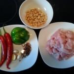 Zutaten für Chicken Kung Po